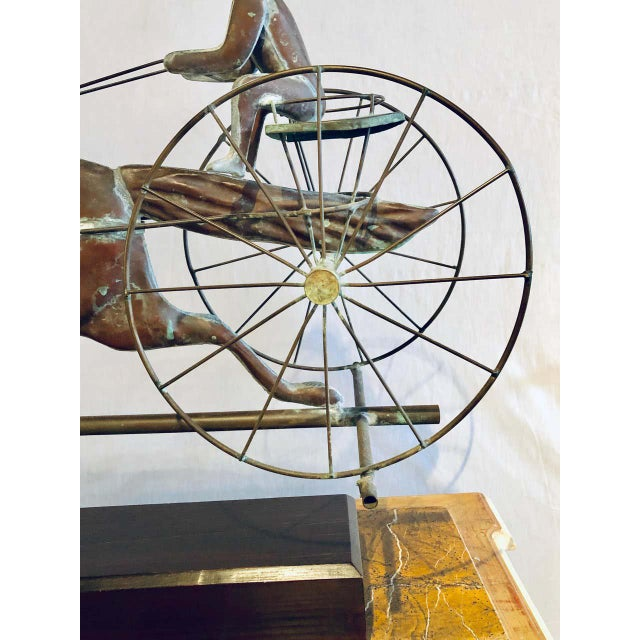 St. Julien Weather Vane Attributed to j.w. Fiske 19th Century Full Bodied Metal For Sale In New York - Image 6 of 12
