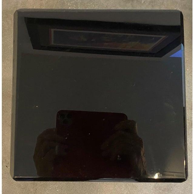 """Vintage Pedestal Black Lucite 26.5"""" High For Sale In West Palm - Image 6 of 12"""