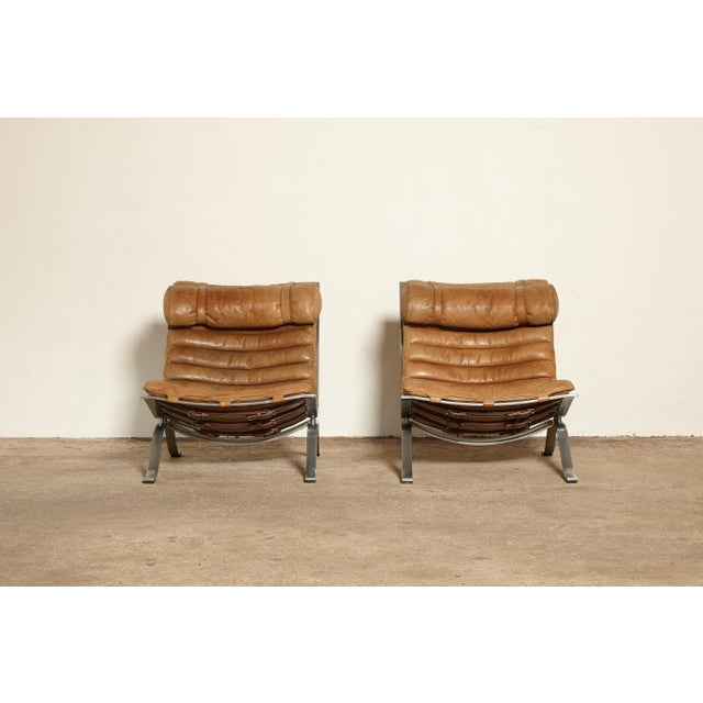 Arne Norell Pair of Arne Norell Ari Chairs, Norell Mobler, Sweden, 1970s For Sale - Image 4 of 13