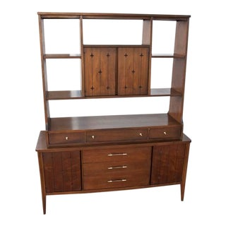 1960s Mid-Century Modern Broyhill Saga Room Divider/Wall Unit For Sale
