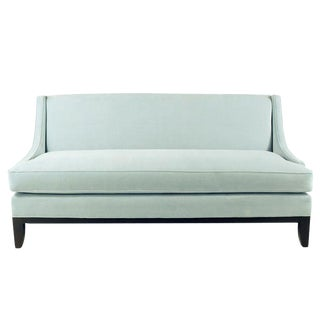 Blue Microfiber Sofa For Sale
