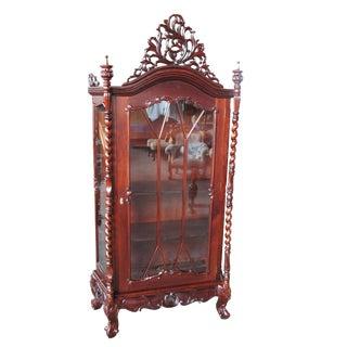 Baroque Revival Mahogany Vitrine For Sale