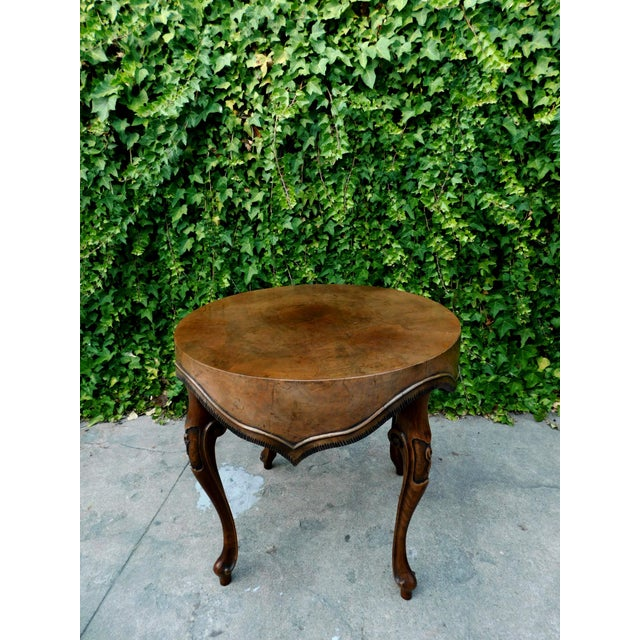Italian Wood Side Table For Sale - Image 11 of 11