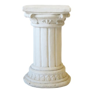 White Column Pedestal Side Table or Stand For Sale
