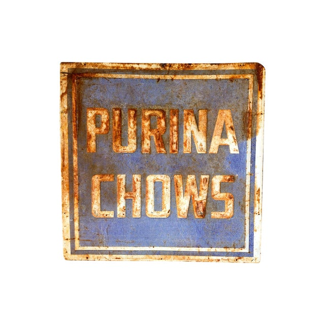 Vintage Purina Chow Sign - Image 1 of 8