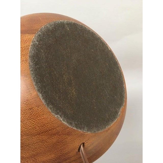 Scandinavian Swedish Modern Teak Organic Modern Bulbous Base Floor Lamp For Sale - Image 4 of 10