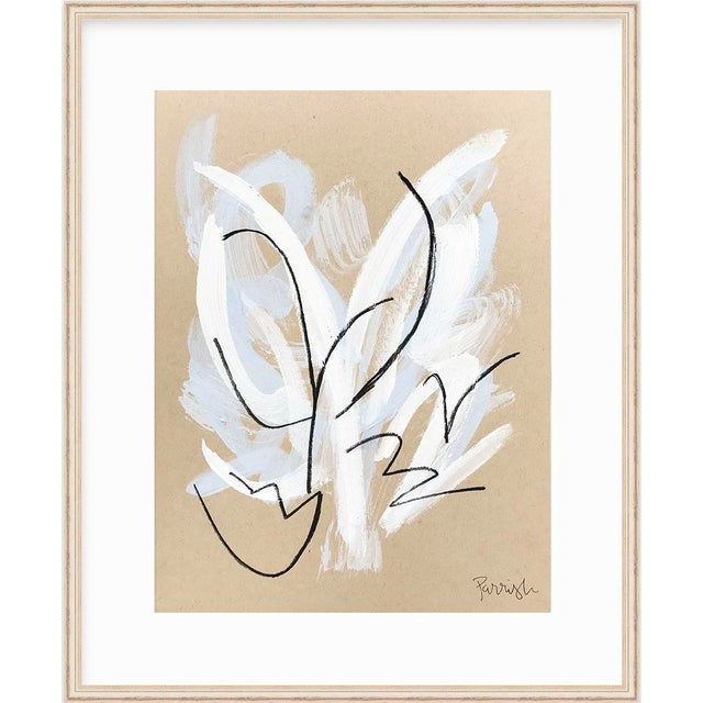 """""""Blooming Blue 3"""" is an original, abstract painting on paper from artist Parrish's Spring 2019 'Botanical' collection...."""