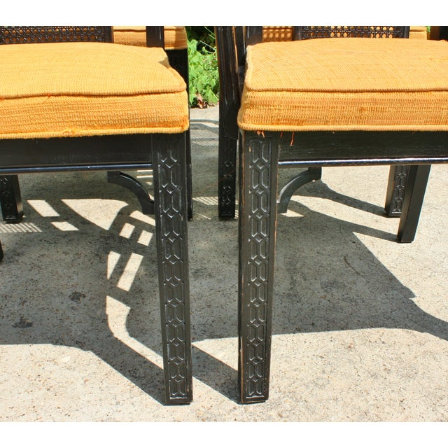 Vintage Chinese Chippendale Chairs - Set of 6 - Image 7 of 9