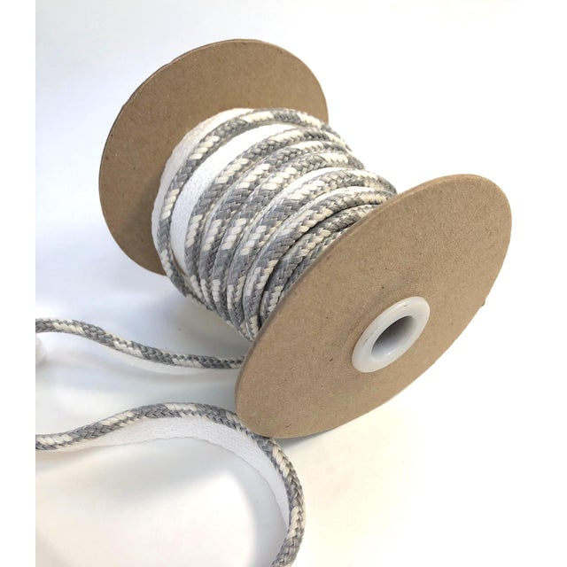 """Braided 1/4"""" Indoor/Outdoor White/Gray Cord For Sale - Image 9 of 10"""
