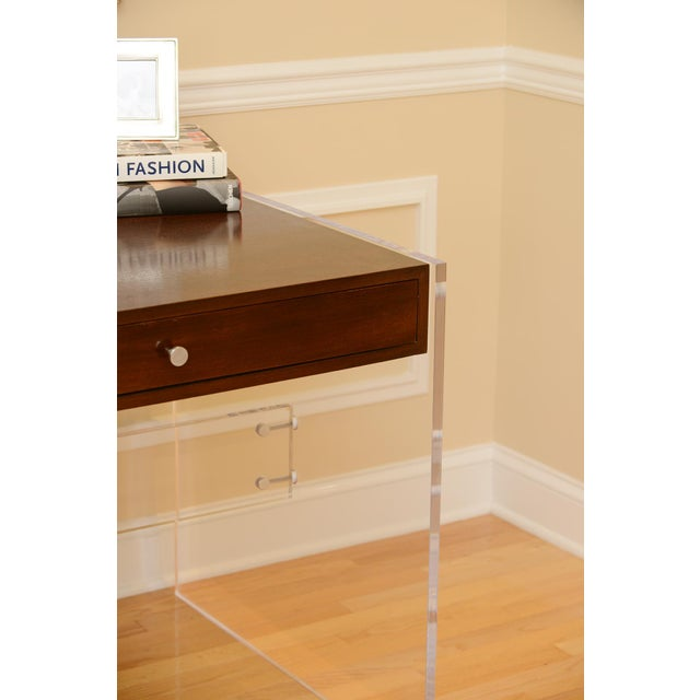 Arthur Lucite Desk For Sale - Image 4 of 7