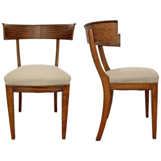 20th Century American Klismos Chairs - a Pair For Sale