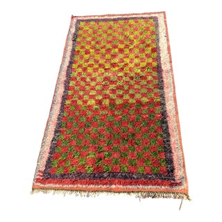 "Vintage Persian Gabeh Area Rug - 3'1"" X 5'6"" For Sale"