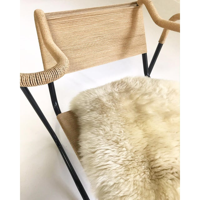 Dan Johnson for California Living Model 2750 Lounge Chair With Brazilian Sheepskin For Sale In Saint Louis - Image 6 of 9