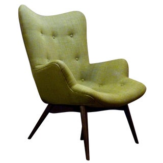 One Modern Green Contour Arm Chair
