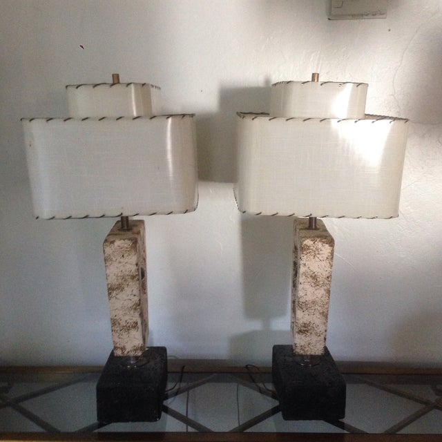 Deco Butterfly Cork Lamps - A Pair - Image 5 of 10