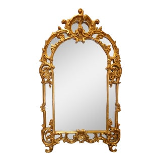 LaBarge Carved Giltwood Mirror For Sale