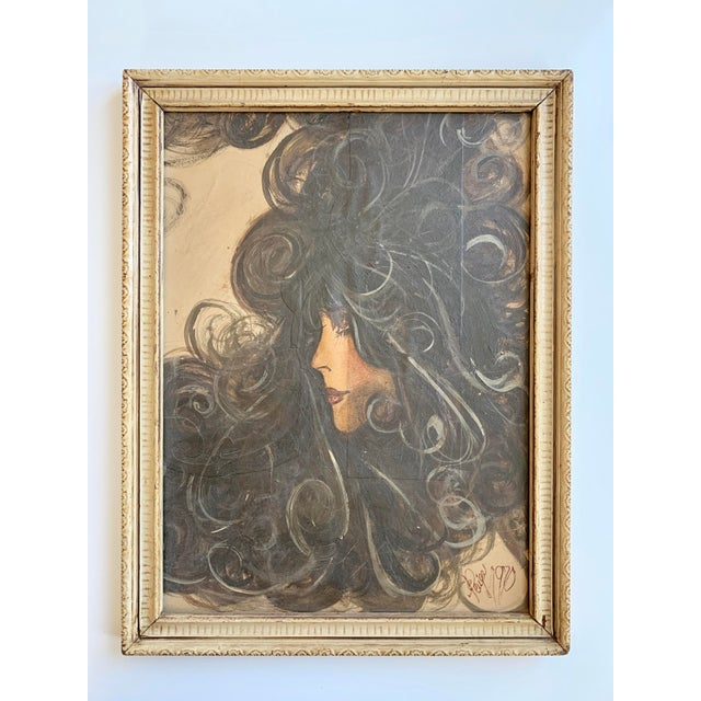 Vintage 1970's Portrait of a Women For Sale In Minneapolis - Image 6 of 6