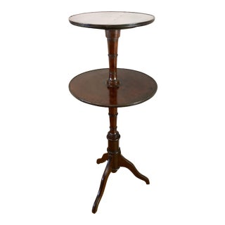 Antique Two-Tier Mahogany Tea Table