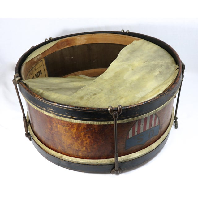 Early 20th Century Antique Parade Marching Snare Drum For Sale - Image 12 of 13