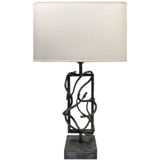 Brutalist Steel Snake Table Lamp For Sale