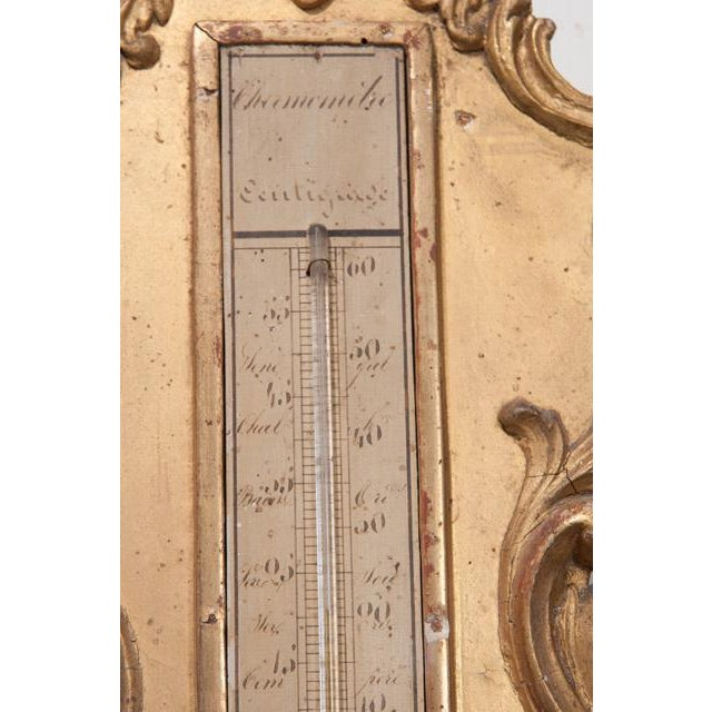 Gold French 19th Century Gold Gilt Barometer For Sale - Image 8 of 13