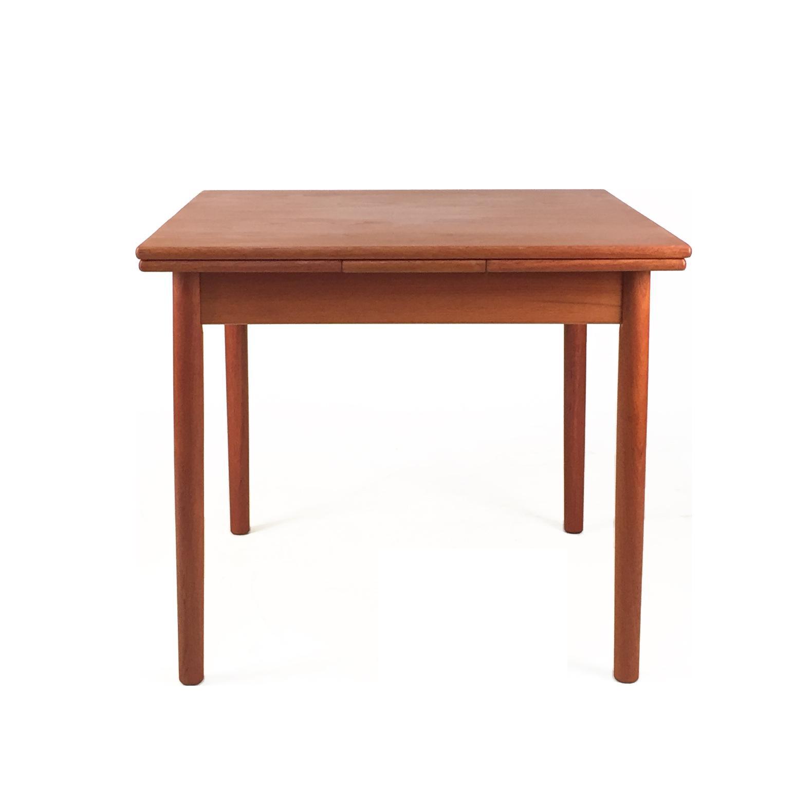 1960s Danish Modern Teak Square Dining Table