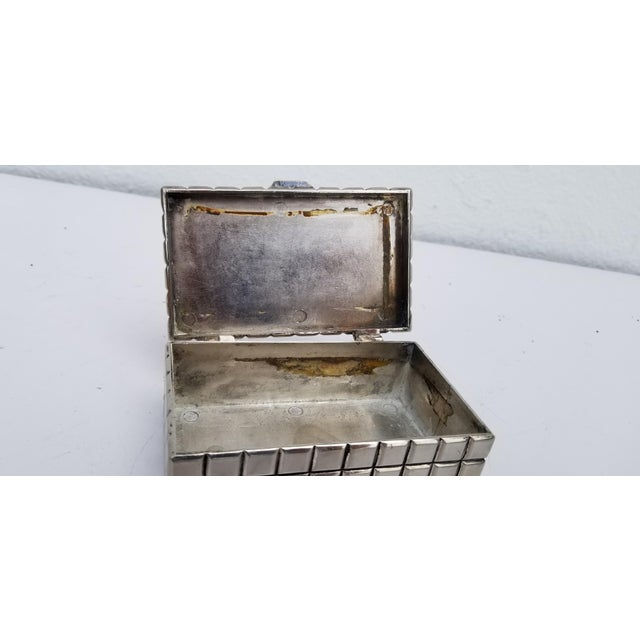 1970s 1970s Vintage Italian Silver Plate Box For Sale - Image 5 of 10