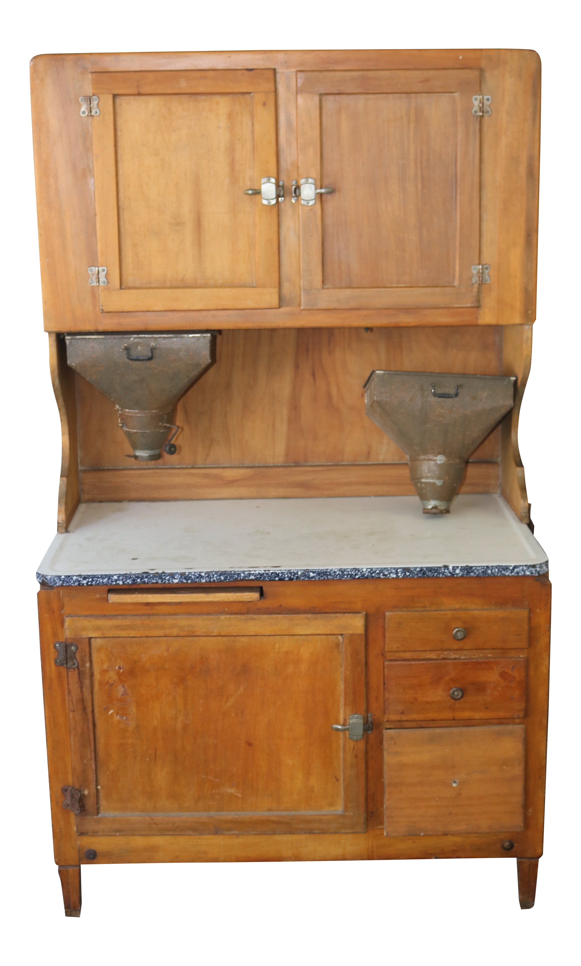 1910s Country Hoosier Baking Cabinet With Flour Sifters   3 Pieces