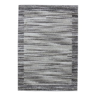 Abstract Striped Brown Rug - 8' x 10'7''