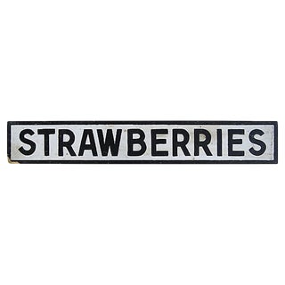 Vintage Farmstand Strawberries Sign For Sale