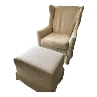 Vintage Amp Used Chair Amp Ottoman Sets For Sale Chairish