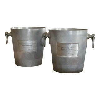 1960s Vintage Laurent Perrier Champagne Ice Buckets - a Pair For Sale