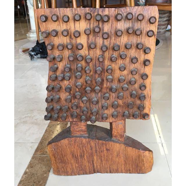 Mid-Century Brutalist Wood Sculpture - Image 2 of 8