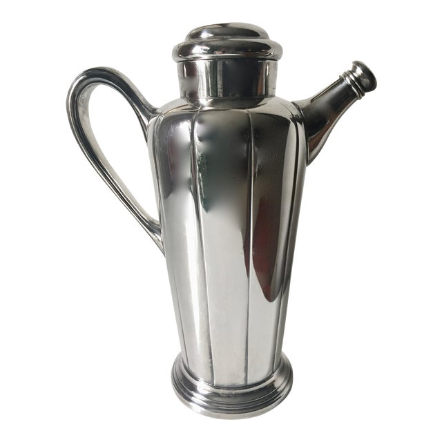 Art Deco Silver Cocktail Shaker For Sale