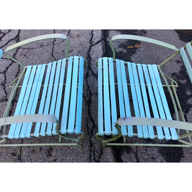 Mid Century Modern Patio Furniture Set Lounge & Chairs For Sale - Image 9 of 13