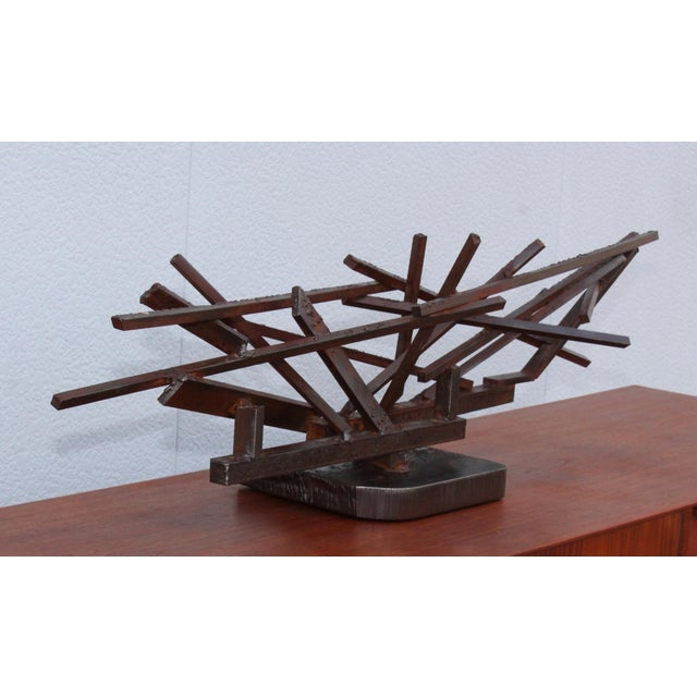 1960s Large Modernist Steel Sculpture For Sale In New York - Image 6 of 13