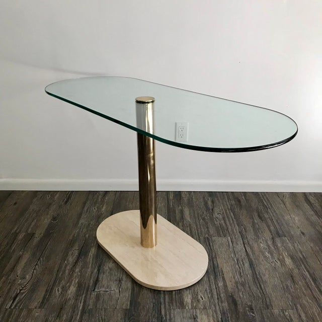 Pace Collection Marble, Brass & Glass Console Table For Sale In Minneapolis - Image 6 of 7