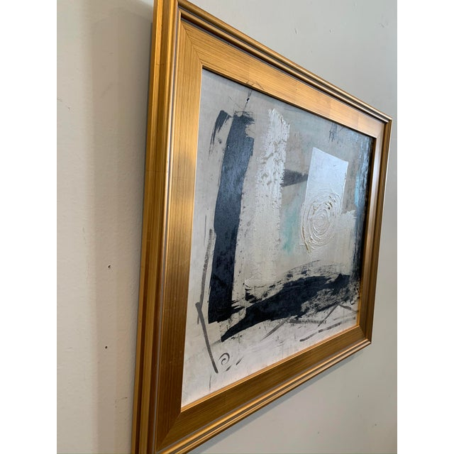 1960s 1960s Graham Harmon Oil Painting W/Gold Frame For Sale - Image 5 of 6
