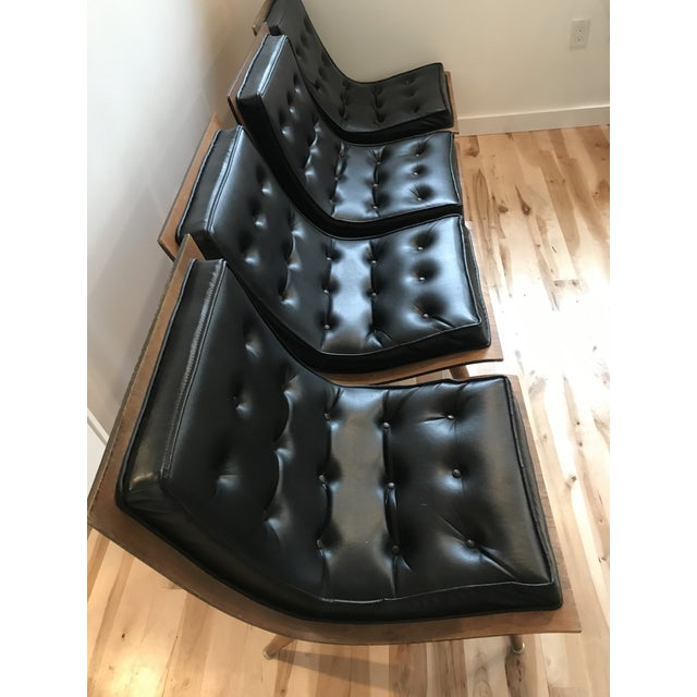 Mid-Century Modern 1960s Vintage Carter Brothers Black Scoop Chair For Sale - Image 3 of 11