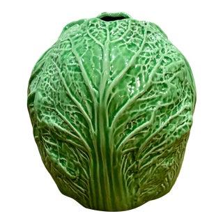 Vintage Green Lettuce/Cabbage Vase For Sale