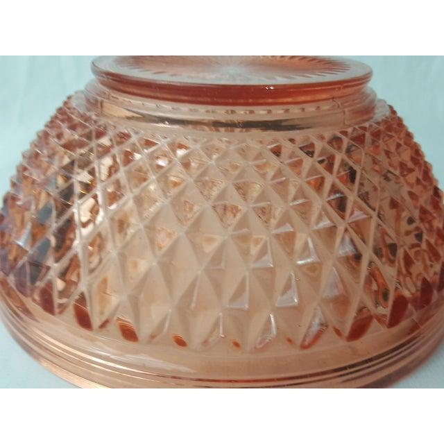 Cambridge Stratford Peach Blo Bowl For Sale - Image 5 of 5