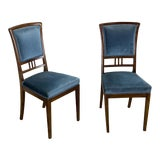 Image of 1920s Vintage French Mahogany Dining Chairs - a Pair For Sale
