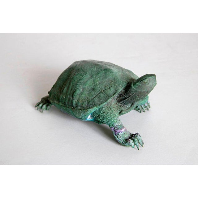Late 19th Century Japanese Bronze Tortoise, Meiji Period For Sale - Image 4 of 13