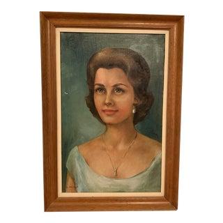 Mid-Century Portrait Paining For Sale
