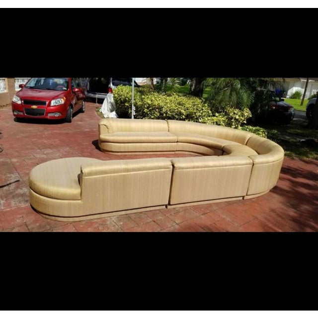 Vintage 1970's Mid Century Modern Curved Sectional Sofa - 5 Pieces For Sale - Image 11 of 12
