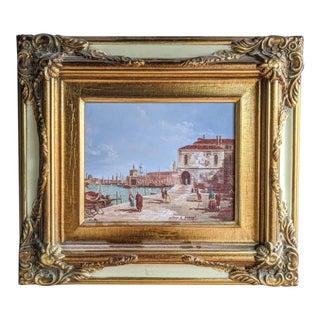 Italian Original Framed Oil Painting For Sale