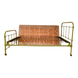 Antique French Country Iron Bedframe For Sale