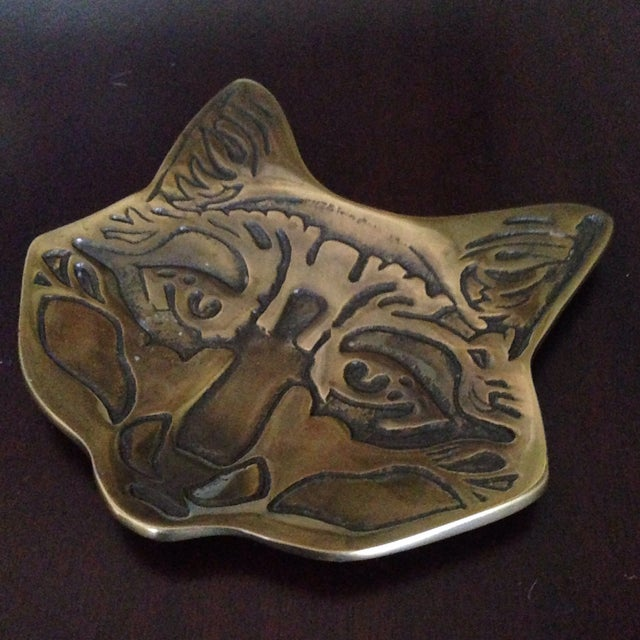Vintage Brass Fox Catch All Tray - Image 4 of 11