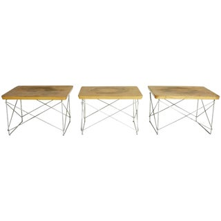1950s Distressed Birch Ltr Tables by Eames for Herman Miller, Early Production For Sale