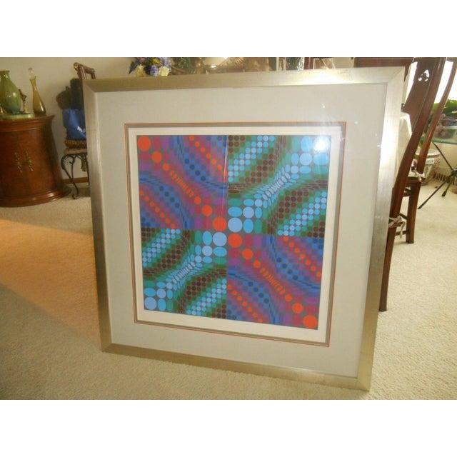 Victor Vasarely Op Art Silkscreen - Image 6 of 8